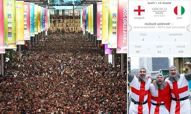 £54,000 for ONE ticket to watch England in Euro 2020 final