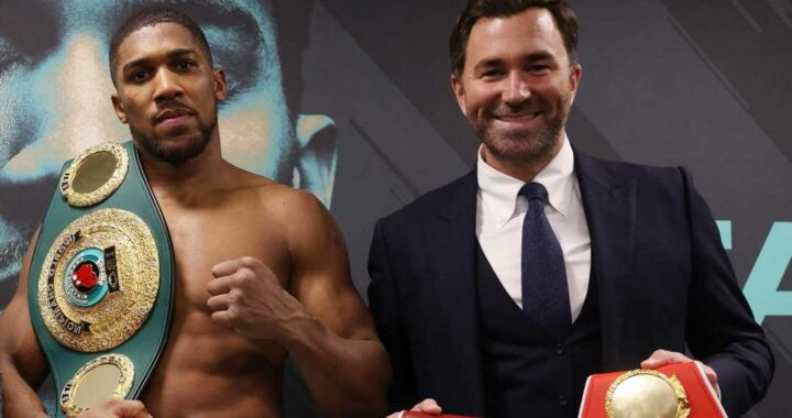 Anthony Joshua tipped to box until he is at least 36 as Eddie Hearn reveals Brit suddenly asked him about retirement