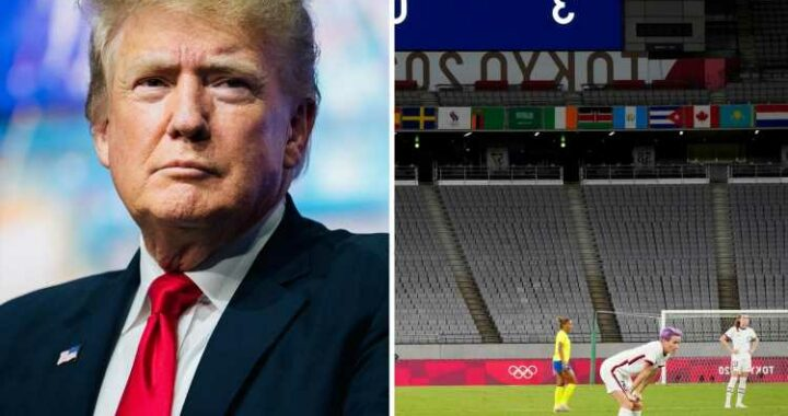 Donald Trump says US women's football team lost to Sweden at Tokyo 2020 because of 'wokeism'