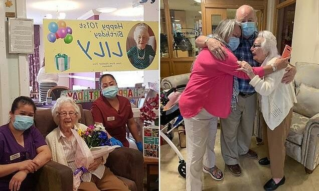 Elderly woman surprised for 101st birthday after spending 100th alone