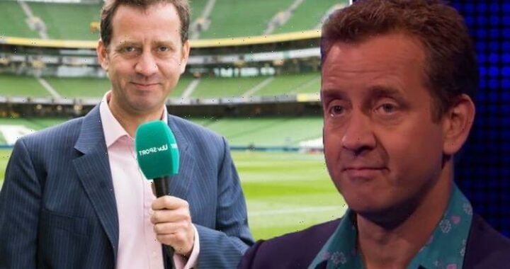 ITV's Mark Pougatch in fire alarm scramble hours before he hosts England v Denmark clash