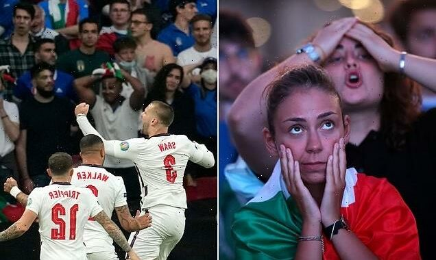 Italian fans stunned as team concedes goal in two minutes to England