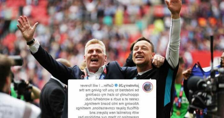 John Terry posts touching tribute to Aston Villa boss Dean Smith after leaving club to pursue management career