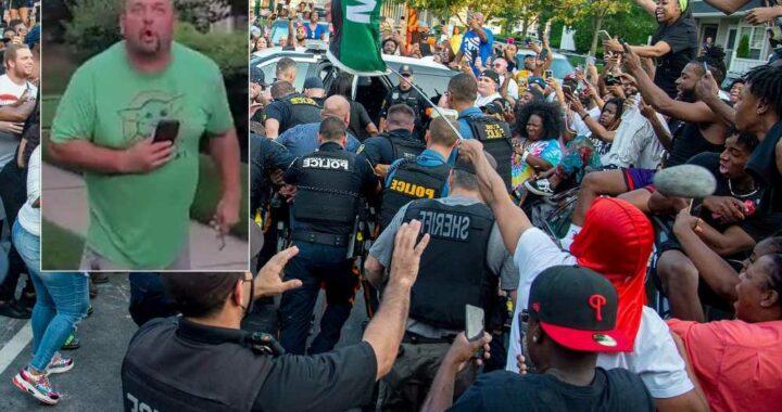 Judge orders NJ man who hurled racial slurs at neighbors to remain jailed