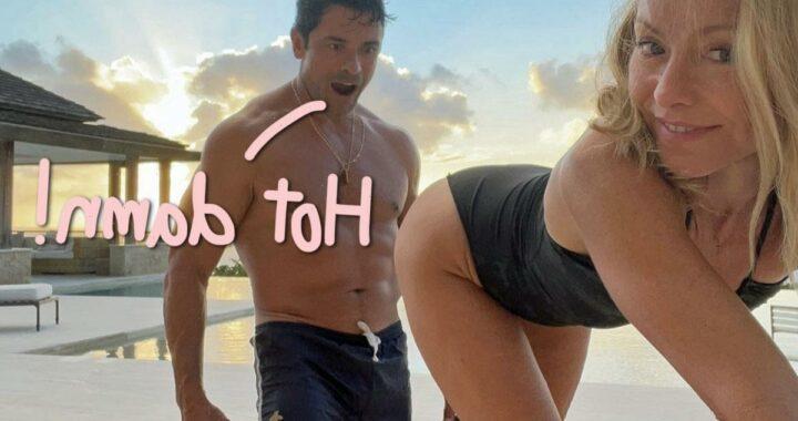 Mark Consuelos Drools Over Kelly Ripa's Booty In Sexy Pic!