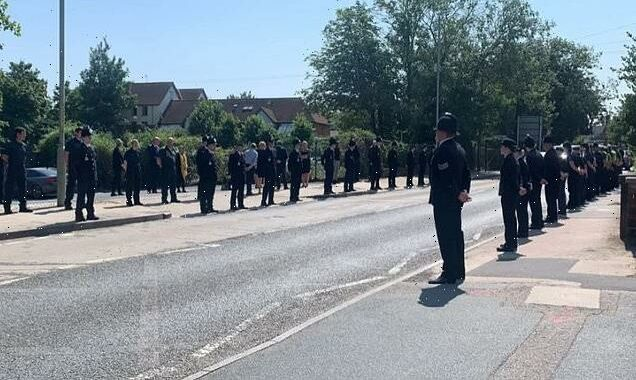 Police form guard of honour as Julia James, 53, is laid to rest
