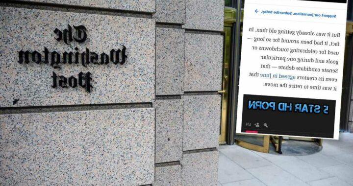 Sites of Washington Post, New York Magazine get riddled with hardcore porn