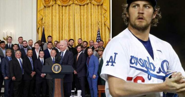 Trevor Bauer missing from Biden's photo with the Dodgers after he 'raped and punched woman in genitals'
