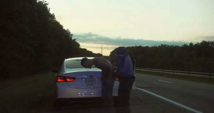 Video shows cop save man from choking on bag of marijuana after getting pulled over