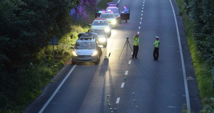 Woman, 35, killed and man, 37, fighting for life after horror crash in East Sussex