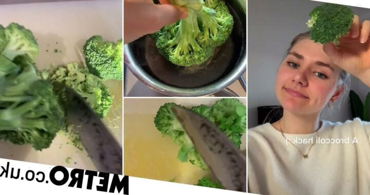 Woman shows hack to cut broccoli without mess