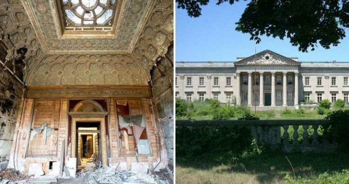 Inside empty $224M 'American Versailles' mansion with Titanic links that has 55 bedrooms, 20 bathrooms and HUGE ballroom
