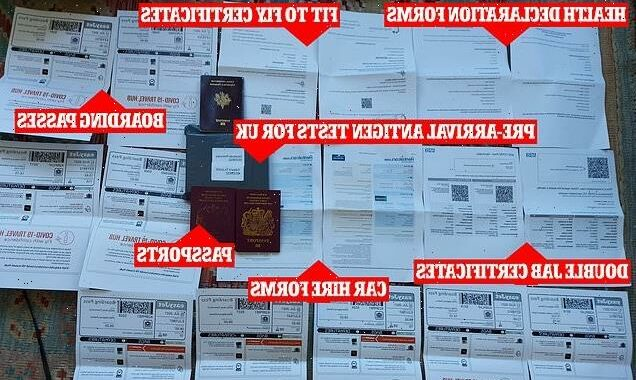 THIS is the paperwork for a family of 3 to have an amber-list holiday