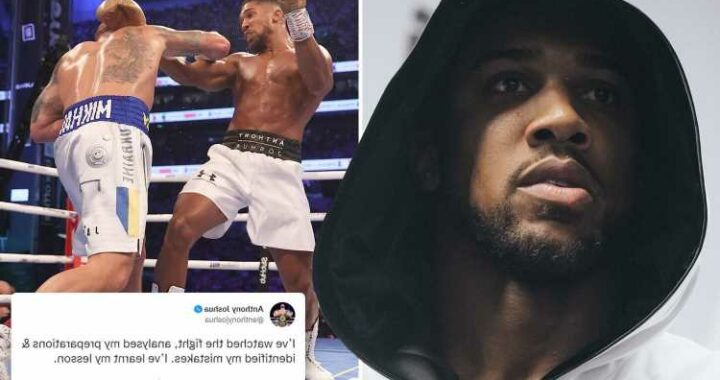 Anthony Joshua assures fans his 'spirit is still strong' after disastrous loss to Usyk and says he has 'learnt lesson'