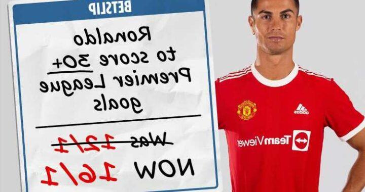 Back Cristiano Ronaldo to score 30+ Premier League goals at 16/1 with Sky Bet on Man Utd return