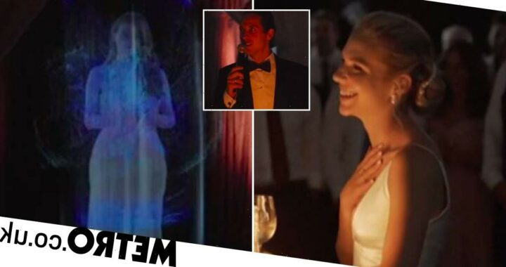 Bride blown away as bridesmaid who couldn't make wedding appears as hologram