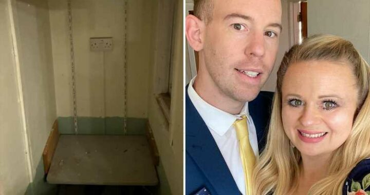 Couple discover a secret room hidden behind a wall in their house and give it a stunning transformation for just £45
