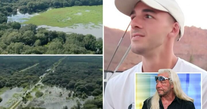 Drone footage reveals huge Brian Laundrie search as Dog the Bounty Hunter and bloodhounds try to track him down