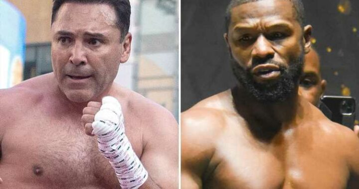 Floyd Mayweather open to Oscar De La Hoya fight but wants $100m to face rival, 48, and put unbeaten record on line