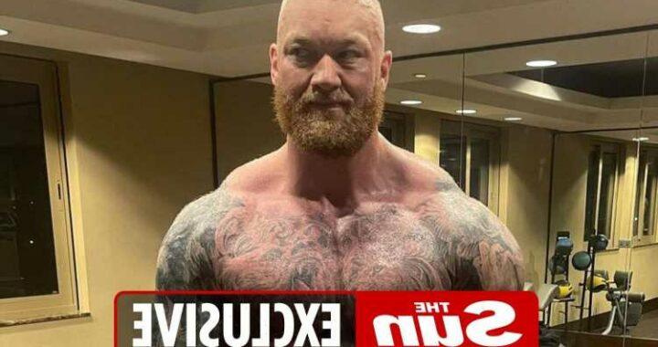 Hafthor Bjornsson reveals incredible body transformation as he drops NINE stone ahead of Devon Larratt fight