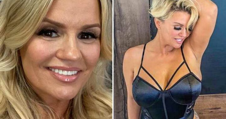 Kerry Katona smoulders as she poses in sheer corset for saucy OnlyFans snap after breast reduction surgery