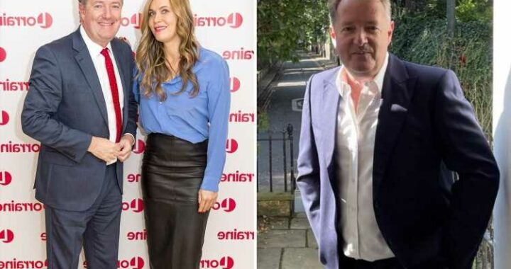 Piers Morgan's wife says he's got a 'spring in his step' as he tweets cryptic message about new job
