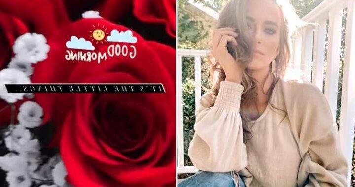 Teen Mom Leah Messer gets huge bouquet of roses after sparking pregnancy rumors with boyfriend Jaylan Mobley
