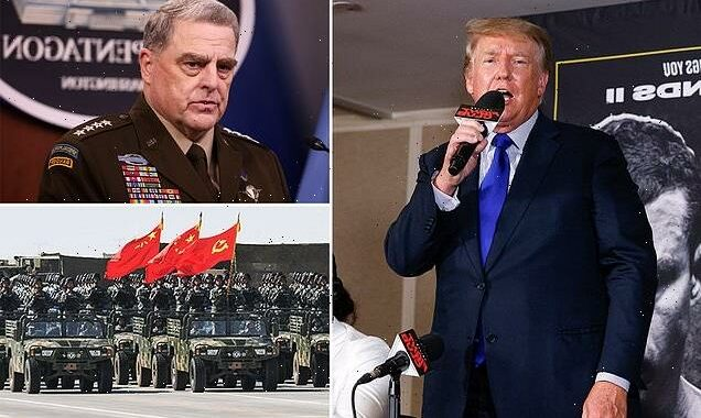Trump accuses Gen Mark Milley of TREASON for going behind his back