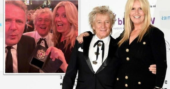 You're nicked Penny Lancaster warns Piers Morgan as he goes on the lash with Rod Stewart