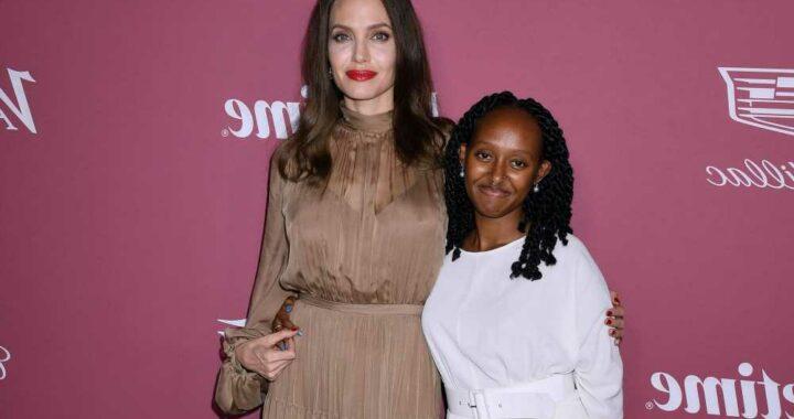 Angelina Jolie brings daughter Zahara to Power of Women event