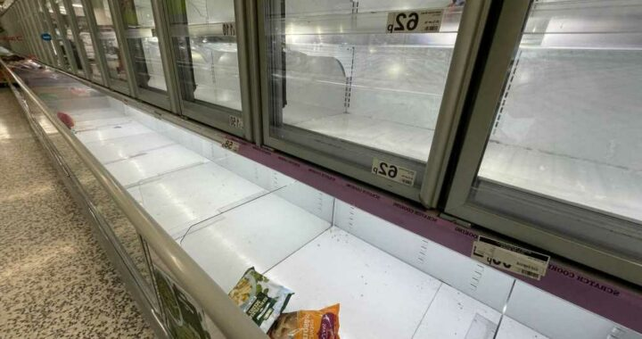 Empty shelves as shoppers told NOT to panic-buy in run-up to Christmas as ministers insist there WILL be plenty of food
