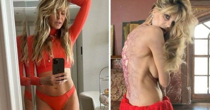 Heidi Klum leaves little to imagination as she teases gory Halloween look in topless photo