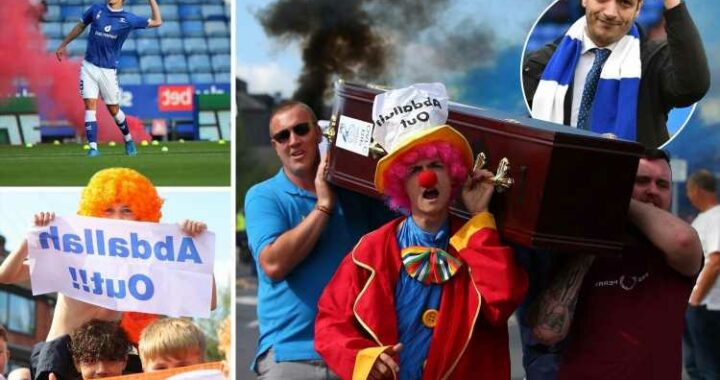 Inside Oldham's crisis, as fans protest against owner with demos featuring a coffin and Boundary Park pitch invasions