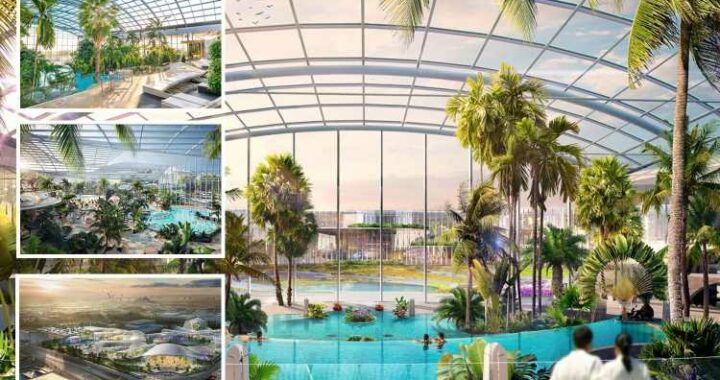 Inside the huge £250m indoor water park and spa coming to the UK with 35 slides, 25 pools and swim up bars – The Sun