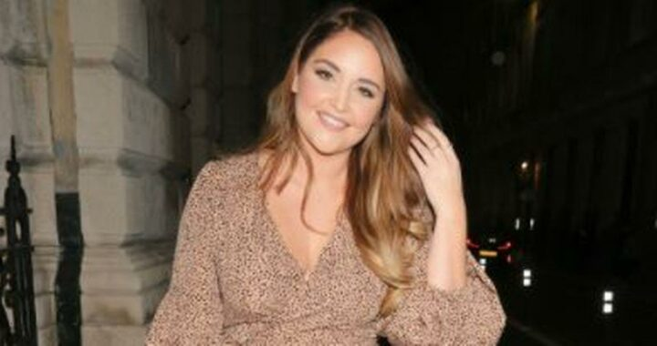 Jacqueline Jossa looks stunning in wrap dress on red carpet for solo night out