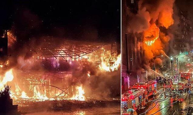Tower block inferno kills at least 46 people in Taiwan